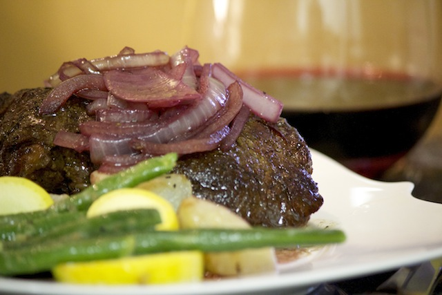 Classic Filet Mignon With A Red Wine Sauce