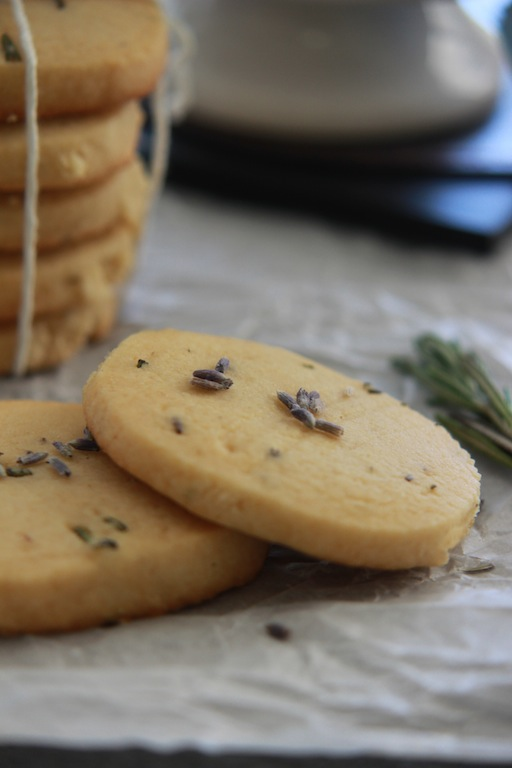 Honey Lavender and Rosemary Shortbread Cookies | Edible Ventures